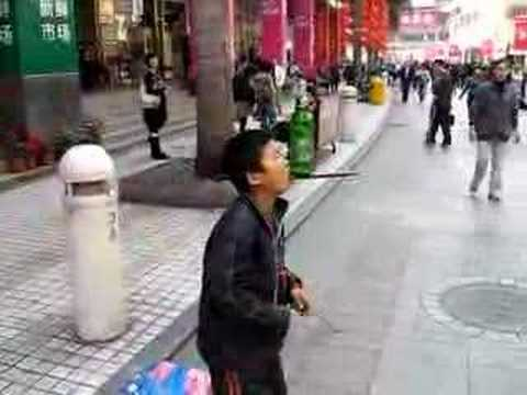 Street Performer in China