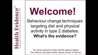 Health evidence hosted a 60 minute webinar examining the behaviour change techniques (bcts) and features of dietary physical activity interventions assoc...