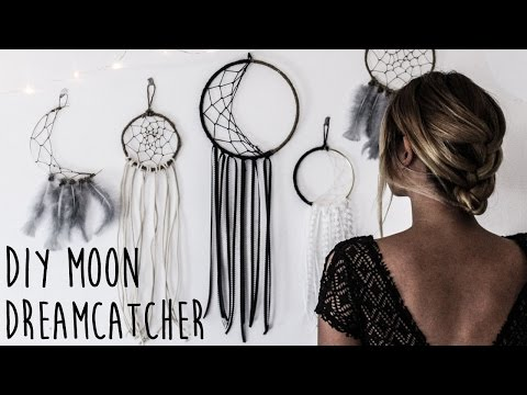 DIY: How To Make A Crescent Moon Dreamcatcher