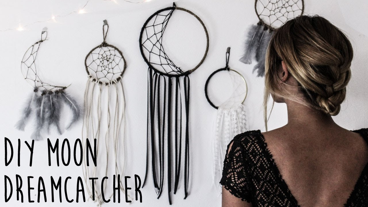 What Do Dream Catchers Do Symbolize DIY How To Make A Crescent Moon Dreamcatcher YouTube 33