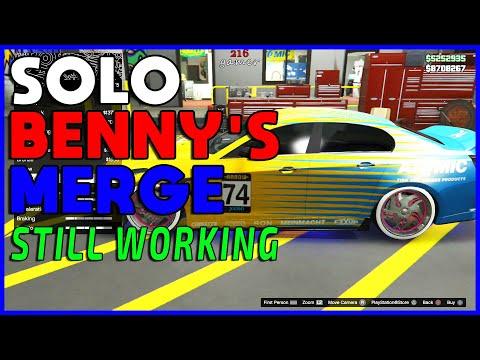 SOLO BENNYS MERGE GLITCH GTA 5 RC TO CAR STILL WORKING!