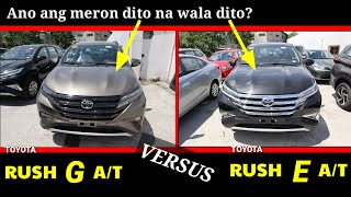 2019 Toyota Rush G versus Toyota Rush E | Comparisons | Deep Review and Walk around