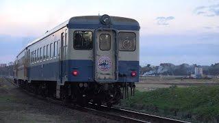 4K【JR】ひたちなか海浜鉄道キハ222最終運行日にて 2014.12.6