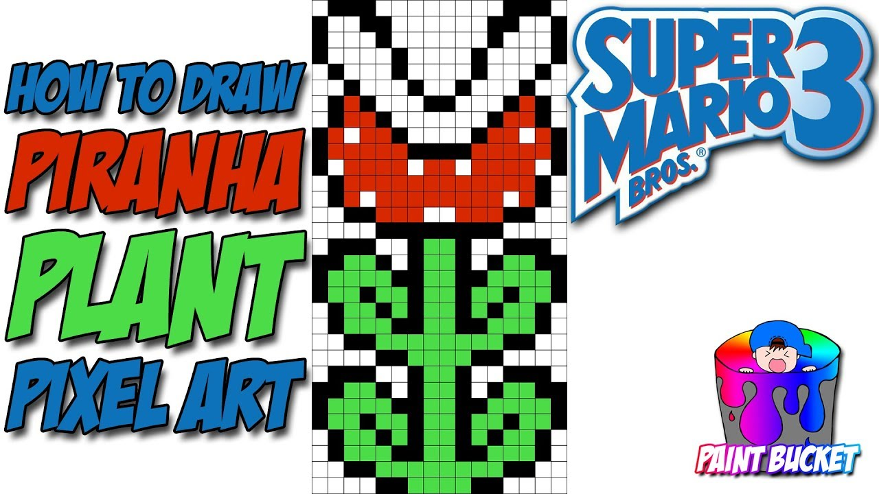 How To Draw Super Mario Bros 3 Piranha Plant Smb3 Pixel Art