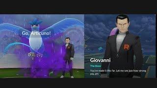 Walkthrough Boss Giovanni and his legendary pokemon reward