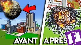 Une MÉTÉORITE S'ÉCRASE sur TILTED TOWERS dans MINECRAFT ! Map Fortnite Battle Royale Minecraft
