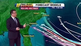 LATEST TRACK: Tropical Storm Florence heading toward East Coast (Sept. 8, 9 a.m.)