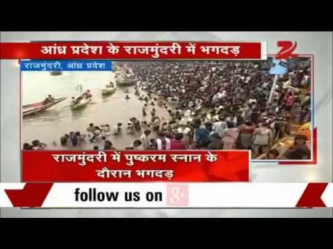 Pilgrims killed in stampede at Godavari Pushkaram festival, A