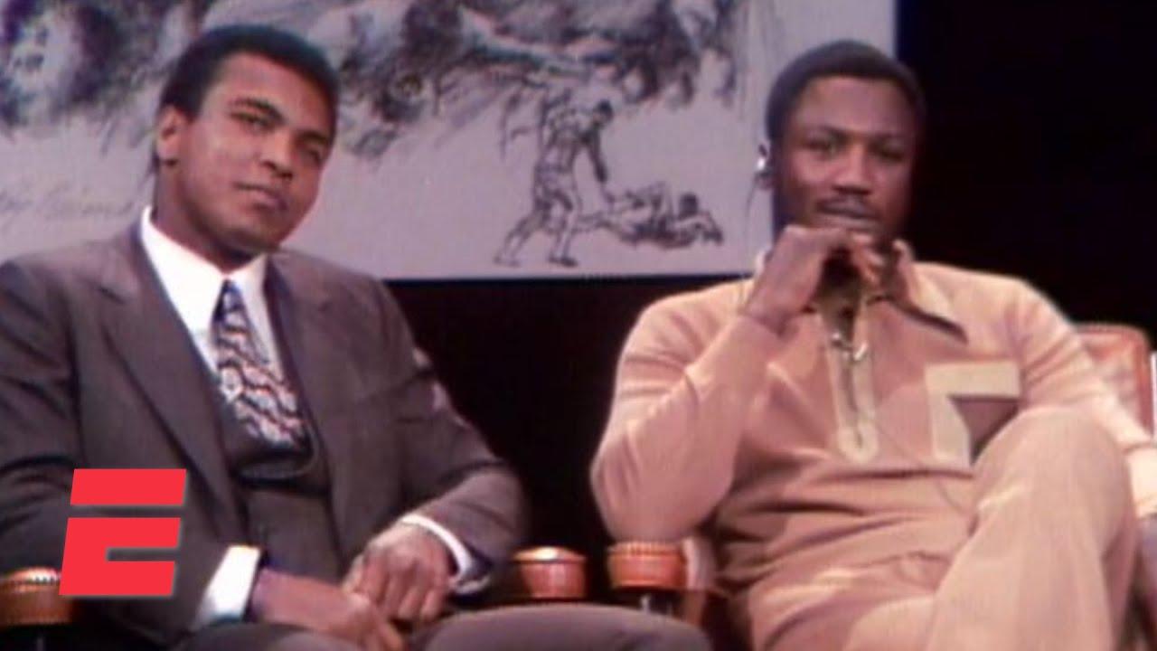 When Muhammad Ali and Joe Frazier got into a fight in a TV studio   Boxing on ESPN