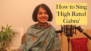 How to Sing 'High Rated Gabru'   Learn a Song   Chandrani's Online Music Class
