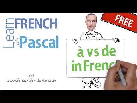 à vs de in French
