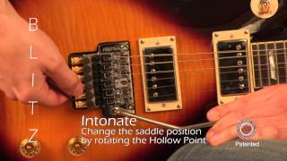 hollow point blitz method how to for setting intonation on double locking tremolos