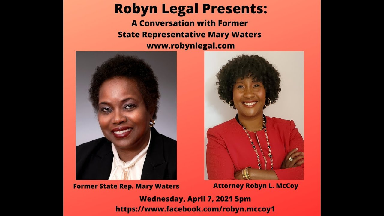 Robyn Legal with Former State Representative Mary Waters!