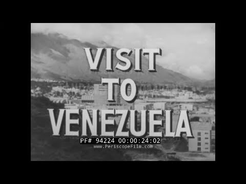 """ JOURNEY TO VENEZUELA "" 1950s STANDARD OIL CO. TRAVELOGUE FILM   CARACAS 94224"