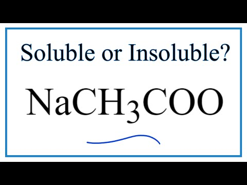 Is NaCH3COO Soluble Or Insoluble In Water?