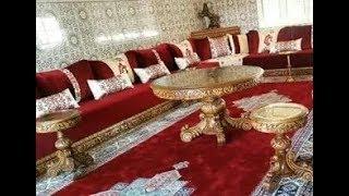صالونات مغربية مبهرة باللون الأحمر
