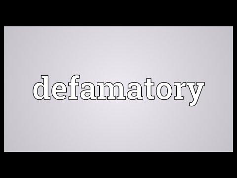 Header of defamatory