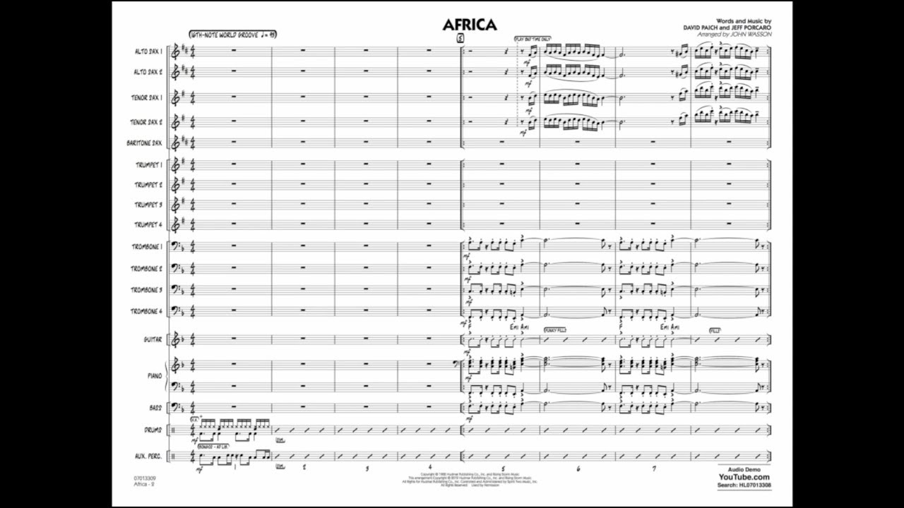 Africa (arr  John Wasson) - Band Music Download