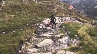 Antur Stiniog DH MTB Black Powder Trail Full Run - October 2014