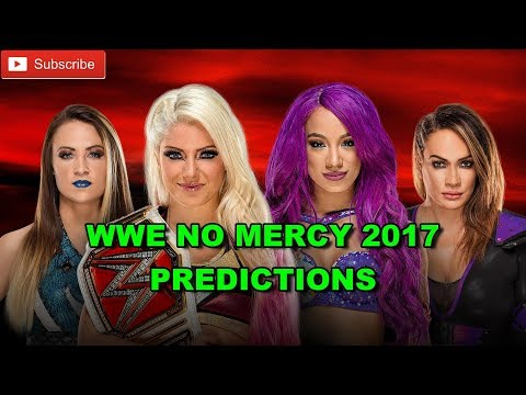 WWE No Mercy 2017 Raw Women's Championship Alexa Bliss vs Sasha Banks vs Nia Jax vs. Emma WWE 2K17 - 동영상