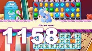 Candy Crush Soda Saga Level 1158 (3 stars, No boosters)