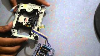 Drive CD-ROM Stepper Motor with Arduino + L293d shield