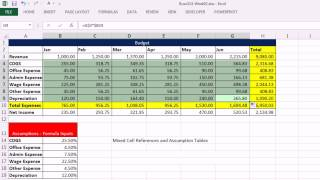 Highline Excel 2013 Class Video 05: Cell References: Relative, Absolute & Mixed (8 Examples)