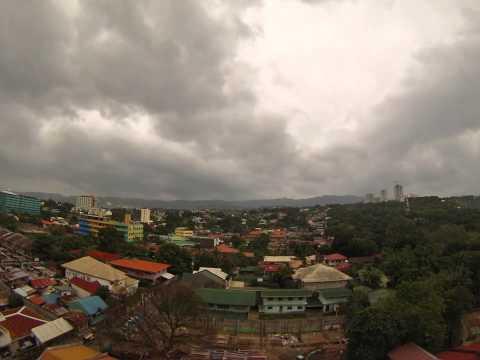 Clouds over Cebu City before typhoon Ruby aka Hagupit