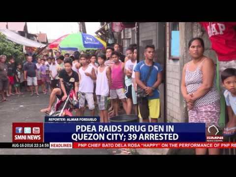 PDEA raids drug den in Quezon City; 39 arrested