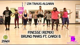 Finesse[Remix] - Bruno Mars Ft. Cardi B - [Zumba Fitness] - Travis Algarin