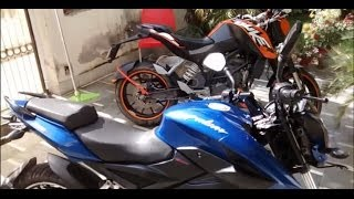 Sound Test - KTM Duke 200 vs Bajaj Pulsar 200ns - Sound Comparison