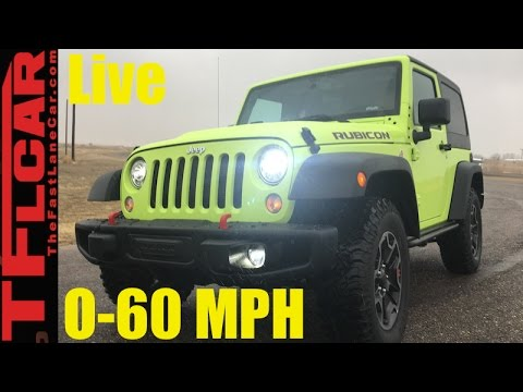 2017 Jeep Ler Rubicon Hard Rock 0 60 Mph Review How Fast Is The Wrangler