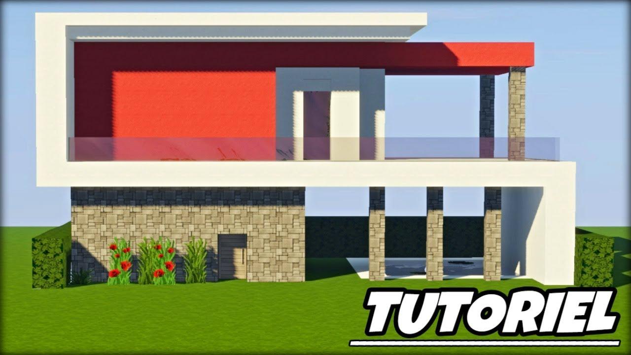 TUTO - COMMENT CONSTRUIRE UNE MAISON MODERNE DANS MINECRAFT ...