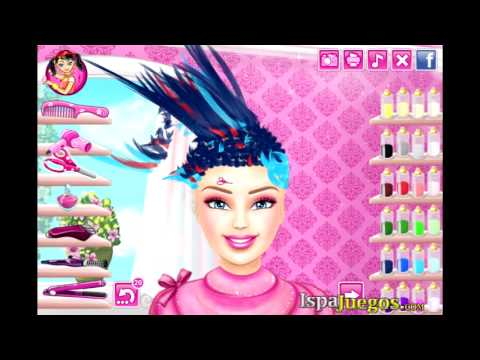 real haircuts barbie real haircuts juego de maquillaje 5696 | hqdefault