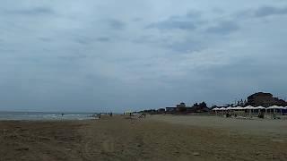 Пляж Кассиопея справа от Заводского пляжа, Избербаш, июнь 2019 | Каспийское море, Дагестан
