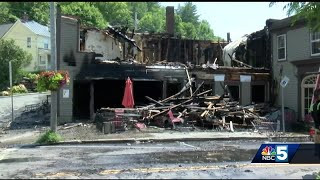 Historic Woodstock building destroyed by fire