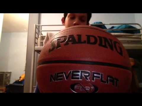 Spalding never flat basketball review