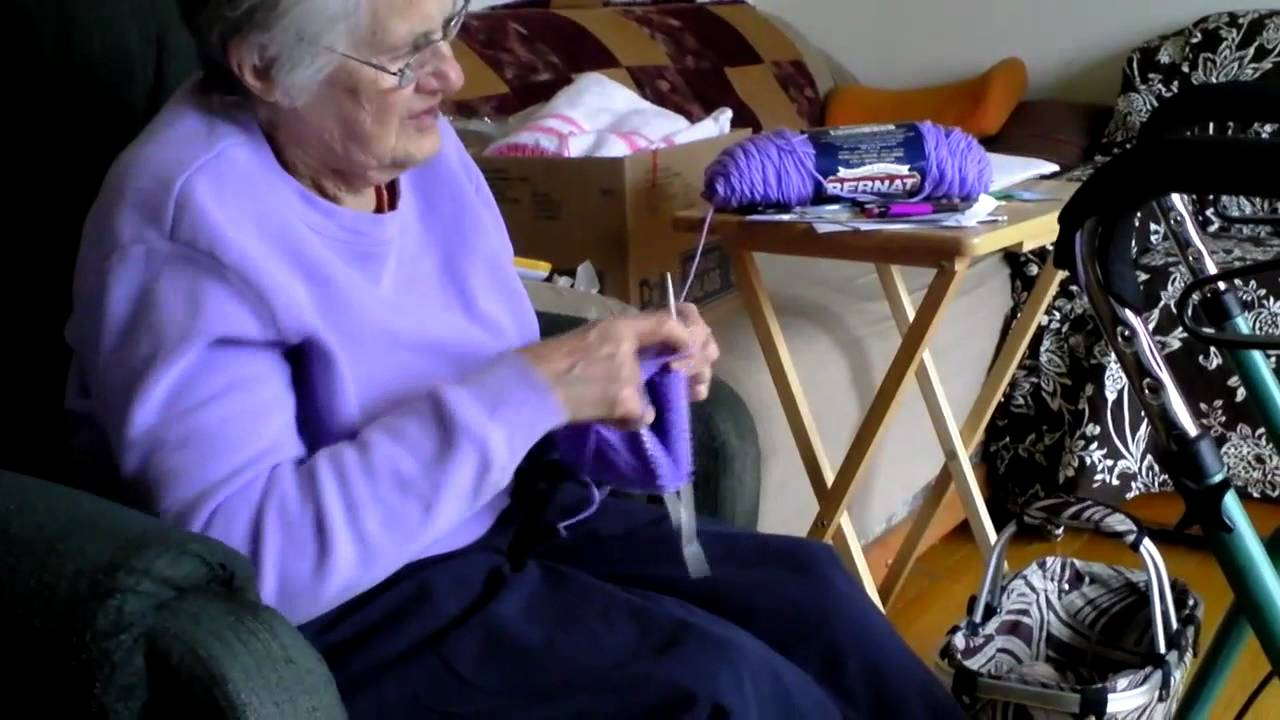 Grandma Knitting Spaghetti : Grandma knitting youtube