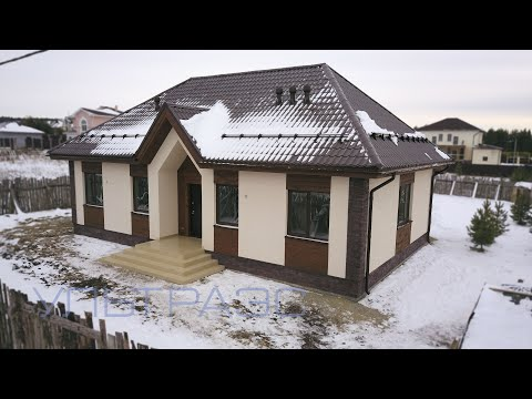 Строительство дома за один сезон. Коттедж по проекту S19.