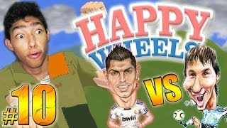 MESSI vs CRISTIANO RONALDO - Happy Wheels: Episodio 10