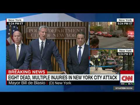New York mayor: Truck attack an act of terror