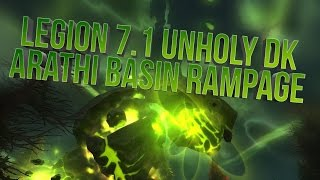 wow legion 7 1 unholy dk ab commentary insane damage mfwest face reveal