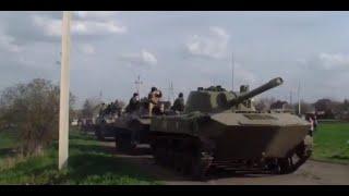 Четыре БТР с украинскими военными прорвали блокаду в Краматорске - 16 апреля 2014