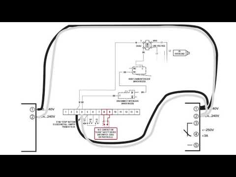 How to Install Omron E3JM Photo Eyes on Powermaster Operators - YouTube | Omron Photoelectric Sensor Wiring Diagram |  | YouTube