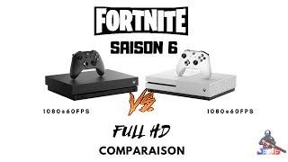 XBOX ONE X vs XBOX ONE S FORTNITE [comparison chart]