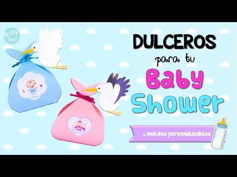 Dulceros para baby shower de niño o niña - Baby shower DIY 👶🏻🎈|Party pop DIY!🎉|