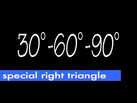 how to find sides of 30 60 90 triangle