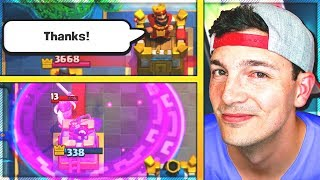 THOUGHT HE COULD BM... ME?! Clash Royale Trophy Pushing Nickatnyte