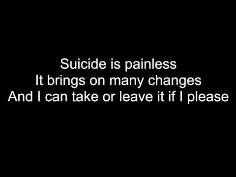 Johnny Mandel Suicide is painless with lyrics - YouTube