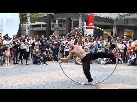 nice street acrobatic performance